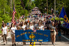 It seems like half the population of Chagrin Falls is following the parade to the cemetary where the Memorial Day service is being held.