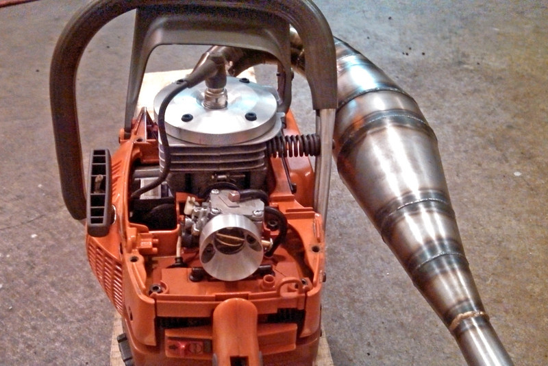 What do you think of this muffler mod method? | Arboristsite com