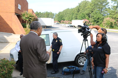 Chairman Pitts and PD visit businesses for Sex Trafficking Task Force