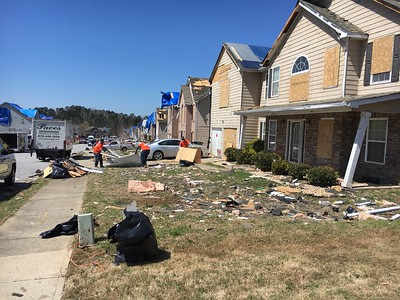 Fulton Public Works crews cleanup in South Fulton after tornado