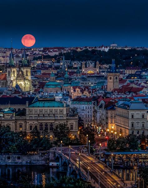 Moonrise Over Prague
