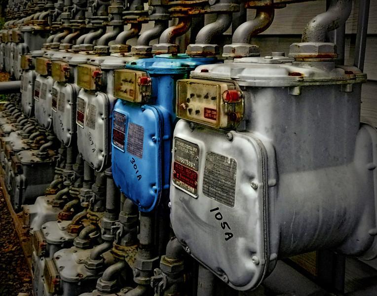 One Blue Gas Meter