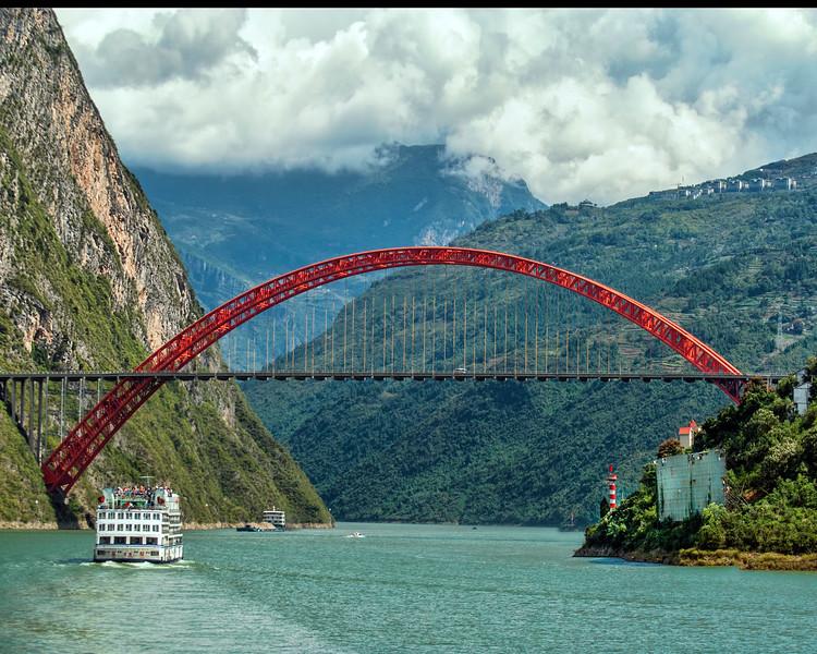 Bridge Over The Yangtze Three Gorges River
