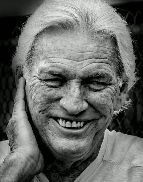 Elderly with wrinkles