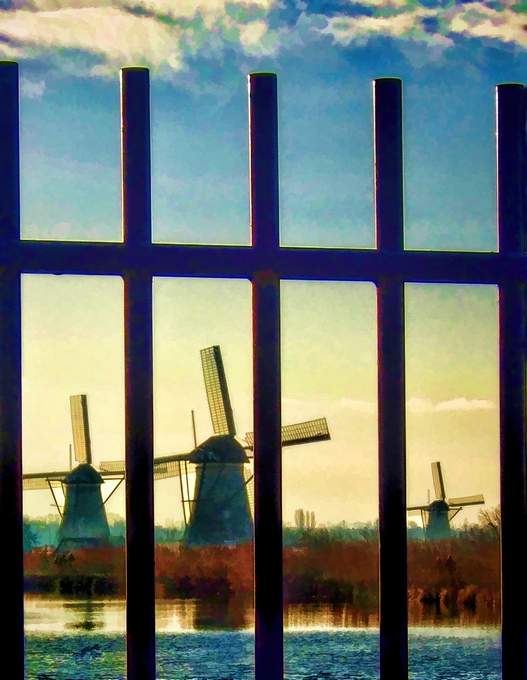 Fence by Windmills