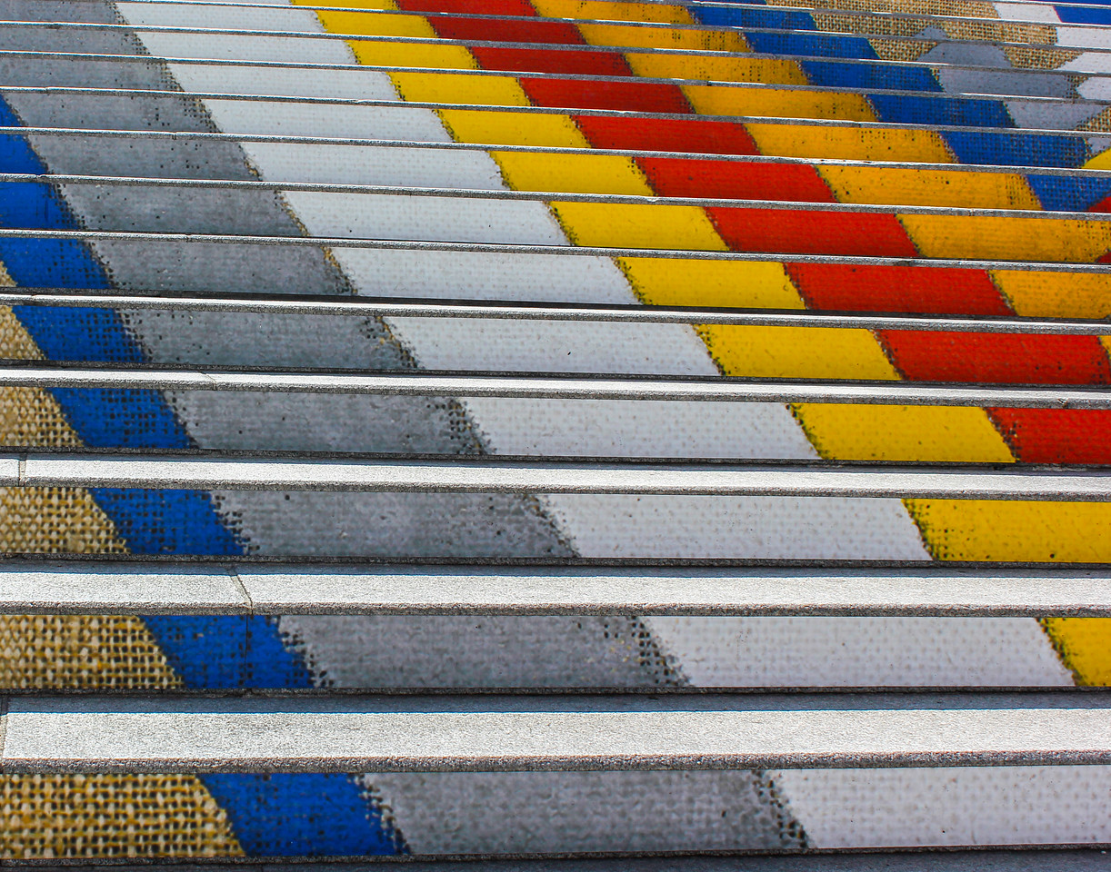 Vienna's Colorful Steps