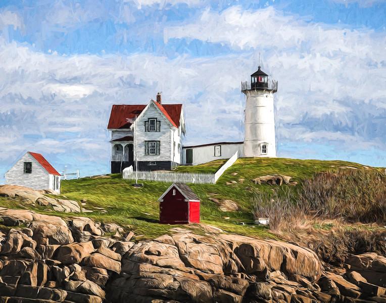 Hubble Lighthouse, York Beach, Maine