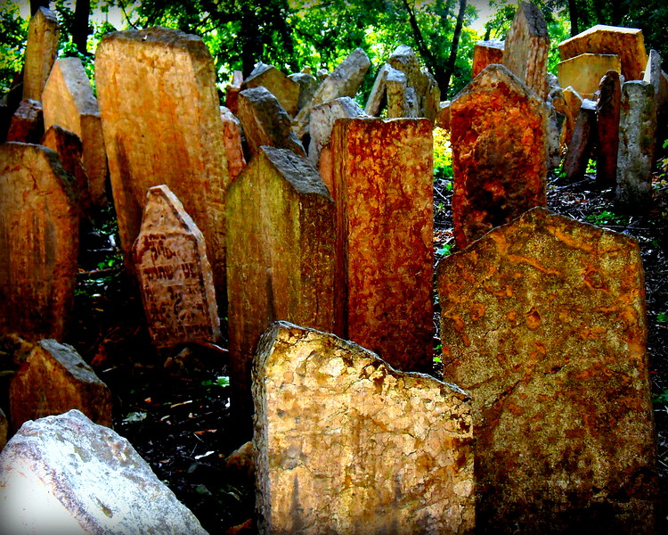 Headstones from a Desecrated Cemetery, Prague