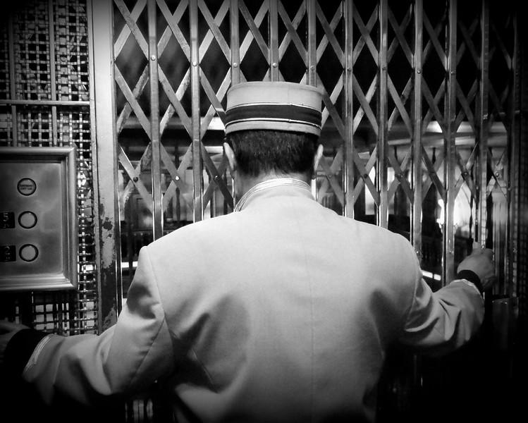 Vintage Elevator Operator