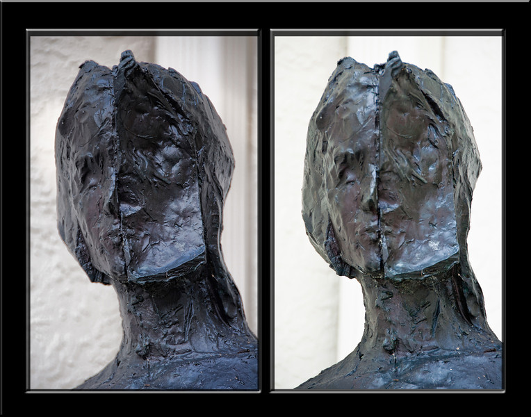 Statue in Front of House -- Morning and Afternoon<br /> Gloria Fine