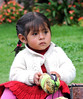 Elizabeth - Four Year Old Peruvian Helping Her Mother Sell Native Crafts<br /> Gloria Fine