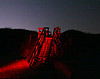 flaming red stairs