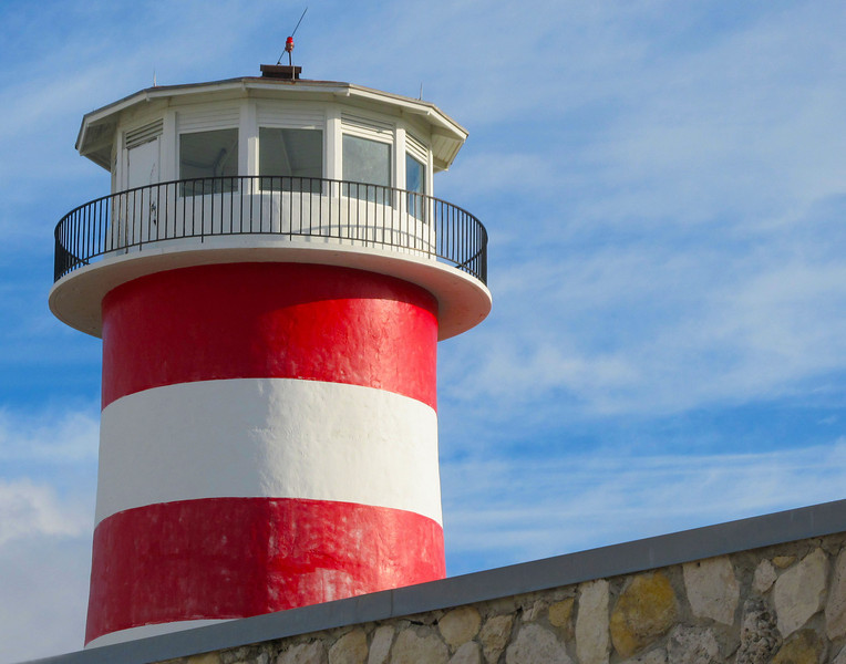 striped light house