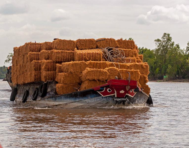 Transporting Coconut Husks
