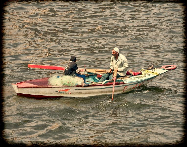Nile fisherman & son