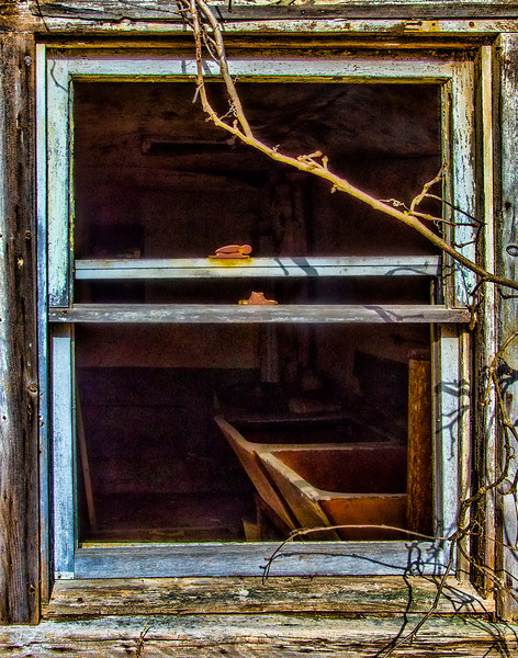 Abandoned Barn Window