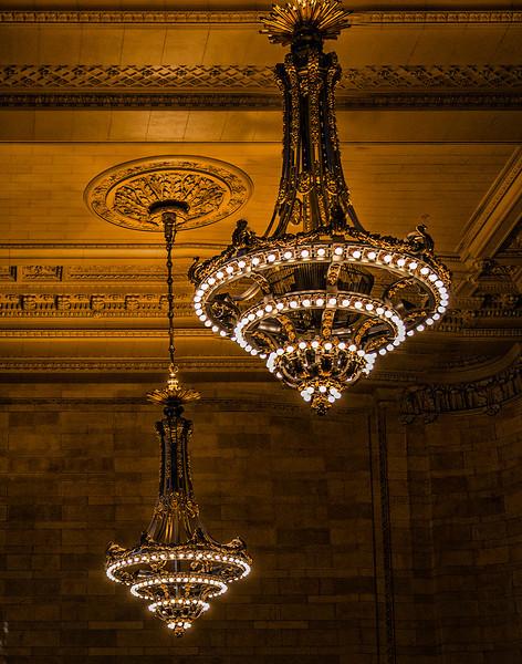 Lighting at Grand Central Terminal, NY