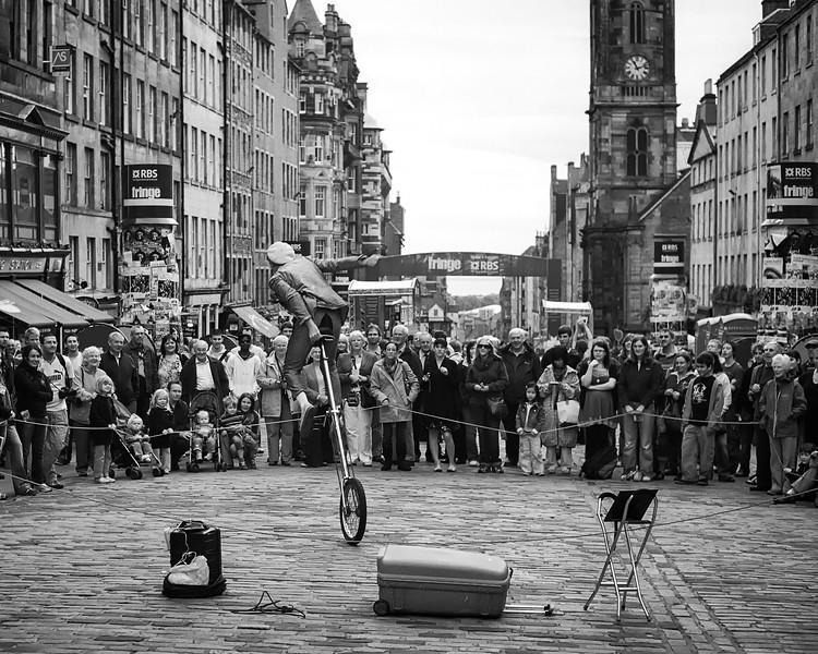 Fringe Festival Unicyclist