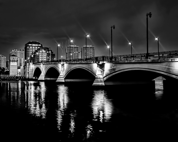 Palm Beach Bridge at Night