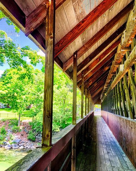 Woodstock VT Wooden Bridge
