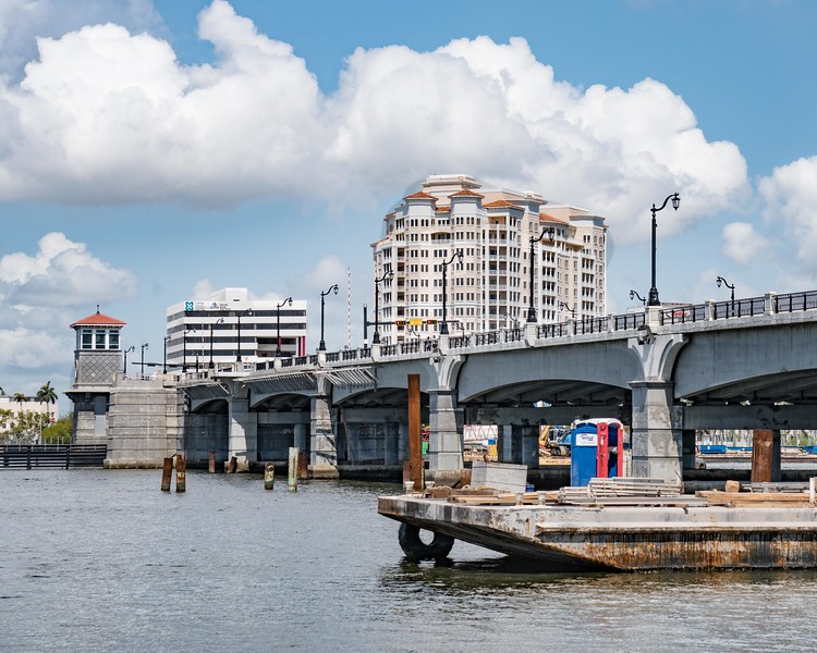 Flagler Memorial Bridge During Reconstruction