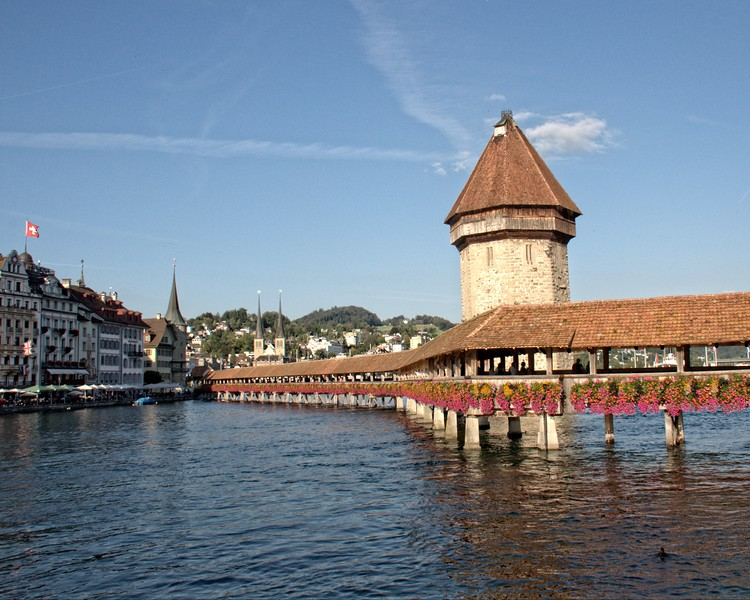 Chapel Bridge,Lucerne,Zwitzerland