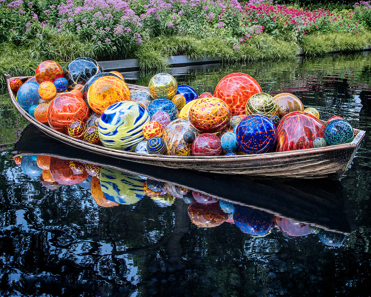 Rowboat of Chihuly Glass
