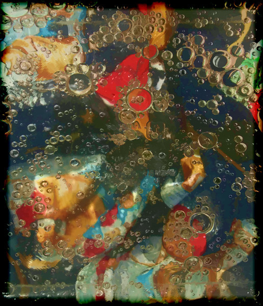 Silk Scarf, Oil and Water