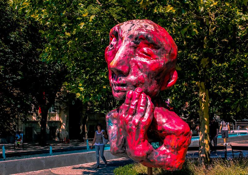 Red Faced in Bratislava