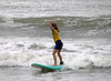 Standing on Surfboard -- She made it!