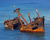 1970's shipwreck- Dixon Bay Honduras<br /> n'Jill