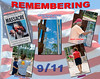 A series of photos taken of individuals remembering September 11 at the Northlake Memorial the day after Bin Laden's death (picture #1 was taken of the news headline as embedded & displayed at the Memorial).<br /> Mike Packman