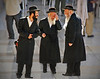 Three Rabbis At The Western Wall