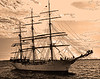 3 Masted Tall Ship in Boston Harbor