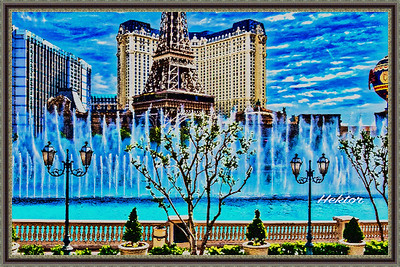 Paris, Las Vegas with Bellagio's Fountains