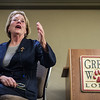 Congresswoman, Niki Tsongas, addresses a question asked by a a Chamber of Commerce member on Friday at the Great Wolf Lodge in Fitchburg.  Sentinel & Enterprise photo/Jeff Porter