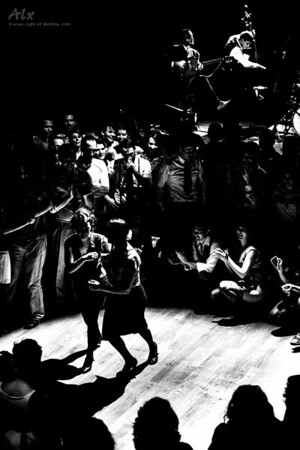Jam circle, lindy hop