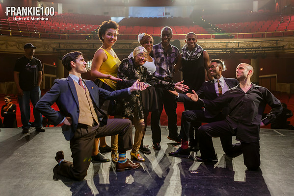 Artists of the show at Harlem's Apollo Theater