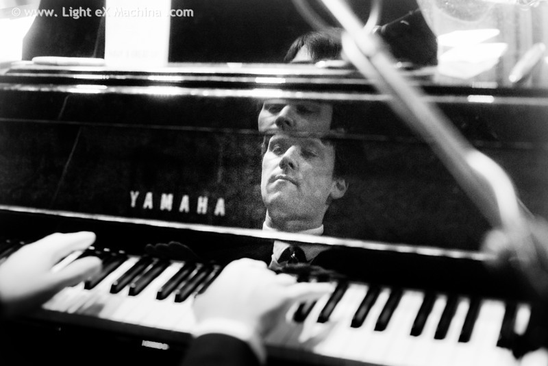 Gordon Webster on his piano
