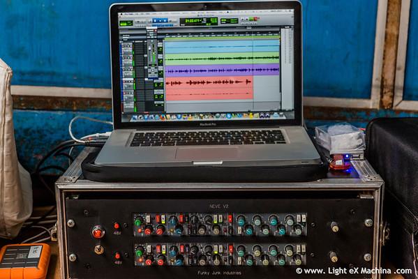 Hot Sugar Band recording session  Tous droits réservés, © Light eX Machina, 2014