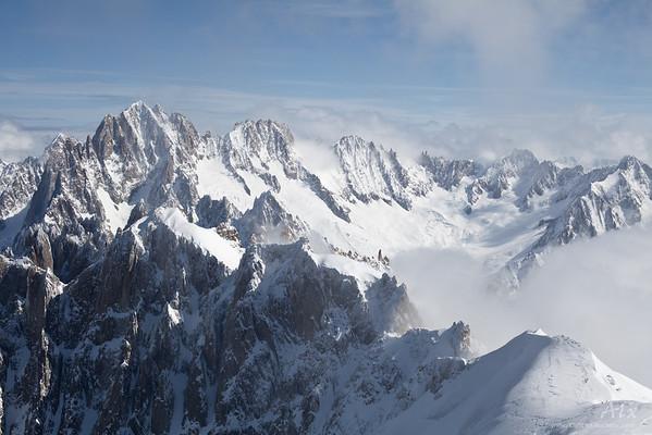 Grandes aiguilles de Chamonix