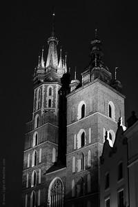 Fragment of Krakow, Poland