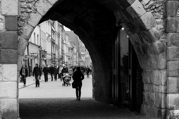 Fragment of Krakow, Poland