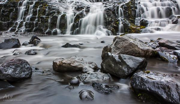 Waterfall on river Skógá