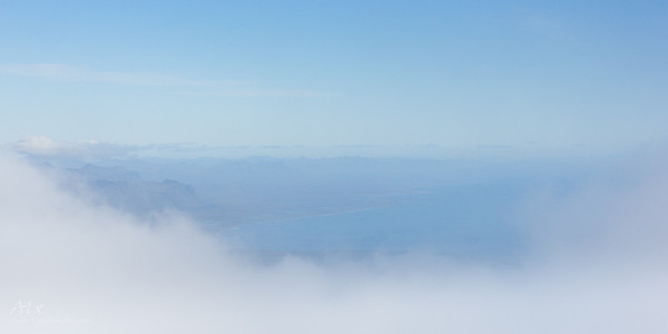 Beyond the clouds Snæfellsjökull
