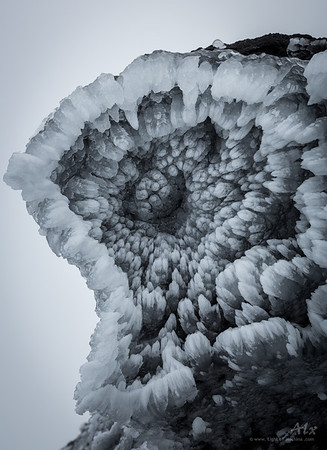 ice worm mouth At the top of Snæfellsjökull