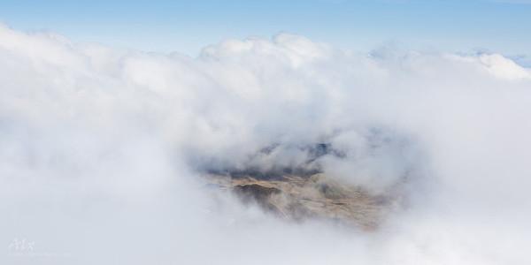 Through the clouds Snæfellsjökull