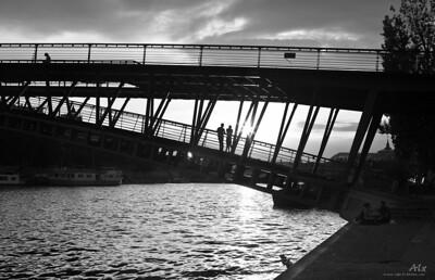 Couchant sur la Seine