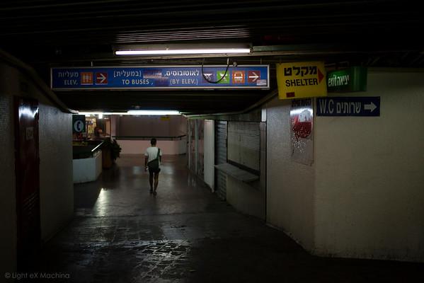 A dark corridor