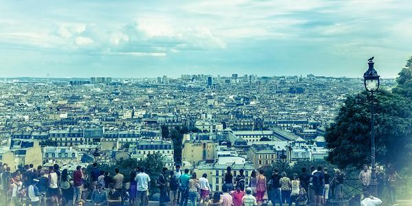 Vue de la butte Montmartre